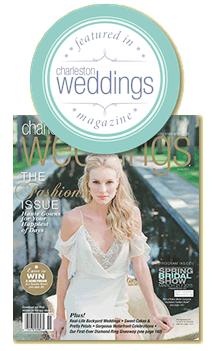 Featured in Charleston Weddings Magazine